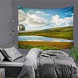 jtxqe Manta de tapicería Decorativa Moderna máquina de Tejer Simple Foto Lavable Fondo de Tela Casa Manta de Pared 130x150cm