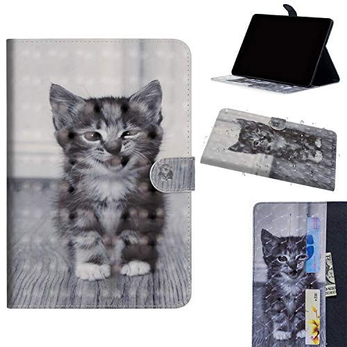 Galaxy Tab S4 10.5 SM-T830/T835-Tablet Hülle ,ShinyCase Slim Lightweight Schutzhülle 3D PU Leder Shell Cover Tasche Etui Smiley Katze Design Flip Case mit Auto Sleep/Wake up Funktion Ständer Bookstyle Handyhülle Tasche Protective Shell Folio Klapphülle Bumper Case Cover für Samsung Galaxy Tab S4 10.5 SM-T830/SM-T835 (2018 Modell) Tablet (10.5-Zoll)
