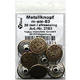 8 Metall Knöpfe altmessing 20 mm, Jeansknöpfe Metallknöpfe Jeans Knopf, m-am-83