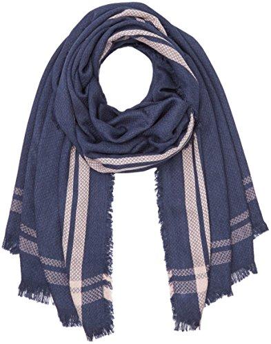 PIECES Damen PCPONNA LONG SCARF Schal, Mehrfarbig (Navy Blazer), One size