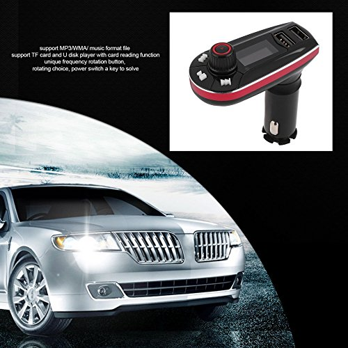 Multifunktions Wireless Car Kit MP3-Player FM Transmitter Radio Modulator USB (Farbe: rot) (Usb2-kit)