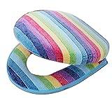 Comodi tappetini copriwater per WC con tappetino WC impermeabile [arcobaleno]
