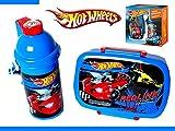 2-tlg Set Barbie Hot Wheels Trinkflasche + Brotdose Frühstücksset Frühstück Set (1/Hot Wheels)