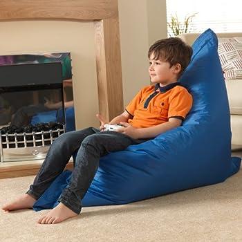 Bean Bag Bazaar Kids Bazaar Bag   Blue, Extra Large, 120cm X 100cm
