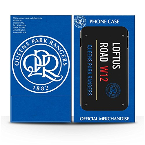 Officiel Queens Park Rangers FC Coque / Etui pour Apple iPhone 7 Plus / Blanc/Rose Design / QPR Loftus Road Signe Collection Noir/Bleu