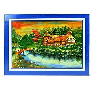 Gifts 4 All Occasions Limited SHATCHI-856 Cottage rompecabezas de 1000 piezas para niños adultos regalo de cumpleaños, Navidad, Mutli