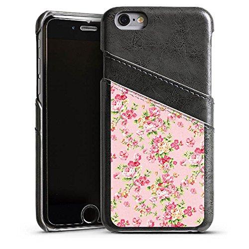 Apple iPhone 5s Housse étui coque protection Roses Roses Roses Étui en cuir gris