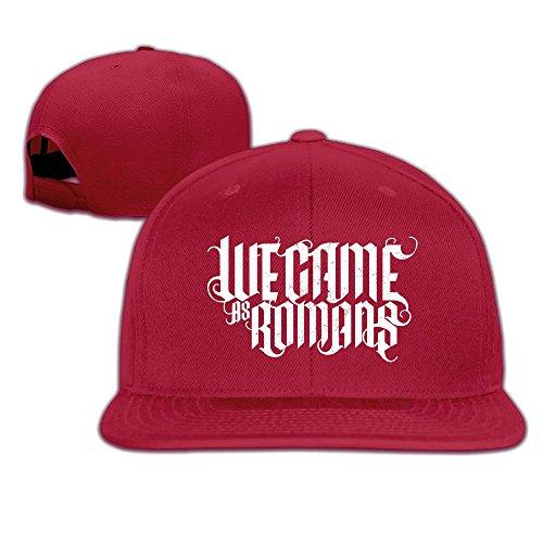 Maneg Wir Came as Romans Unisex Fashion Cool verstellbar Snapback Baseball Cap Hat Eine Größe Einheitsgröße rot (Math Baseball-cap)