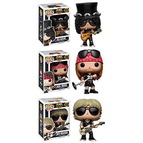 ROCK Â¡Popular! s: Guns n Roses axl Rose, Slash, Duff McKagan y el Bajista! Juego de 3