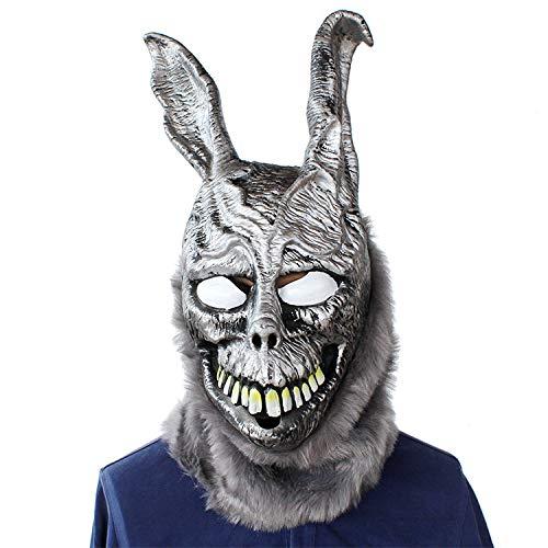 KYX-GAOMOUREN Halloween Angry Rabbit Maske Evil Bunny Tierkopf Abdeckung Bar Party COS Show Parodie Ghost