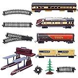 VIDOO Electric Classic Treno Ferroviario Veicolo Giocattoli Set Musica Leggero Gestito Carrozze Educative Regalo Educativo