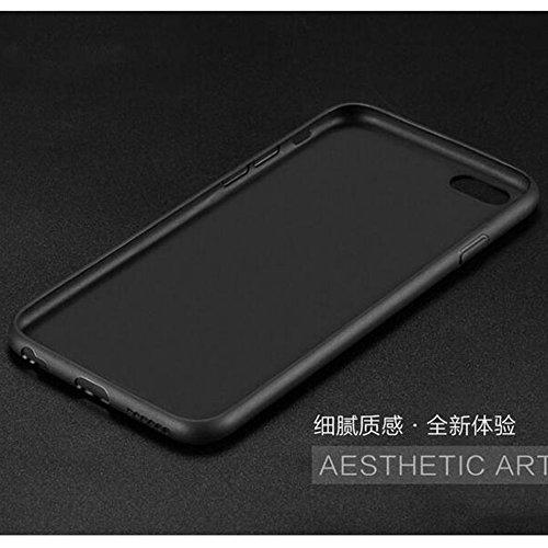 iphone 6/6s Plus Ultra-Dünn Matte Hülle + Gehärtetes Displayschutzfolie + Kordel Loch,SUNAVY 3-in-1 360-Grad Schutzhülle Weich Premium-TPU Handyhülle für Apple6/6s plus,5.5 zoll,Schwarz Schwarz