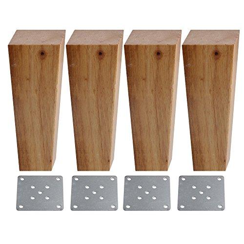 bqlzr 4x 5,5x 15cm Holz Möbel Schrank Beine rechts Winkel Trapez Füße Lifter Ersatz für Sofas Schränke Tische Betten Pack von 4 -