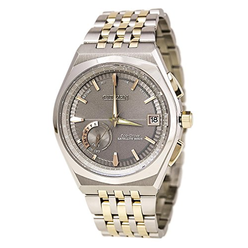CITIZEN MEN'S 44MM STEEL BRACELET & CASE QUARTZ GREY DIAL WATCH CC3026-51H