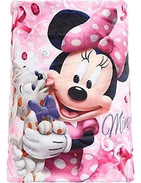 Bufanda braga de cuello diseño Minnie (Disney) forro morado