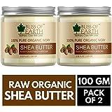 Bliss of Earth 100% Organic Ivory Shea Butter 100 gram (Pack of 2)