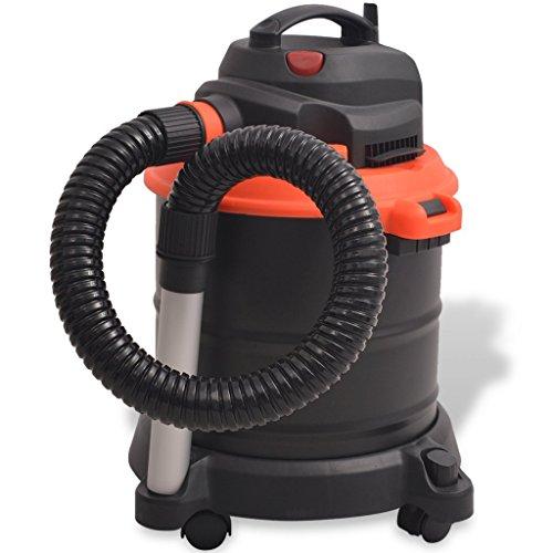 vidaXL Aschesauger Kaminsauger mit Motor HEPA Filter 1200 W 20 L Schwarz Orange