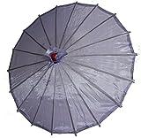 AAF Nommel ® Deko- Kinder- Sonnenschirm aus Stoff und Holz flieder violett, 066
