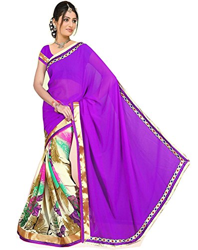 Mansi Tex Women's Latest Printed crepe chiffon Saree for Beautyful lady ( Bb-C-2 , Multi coloured )