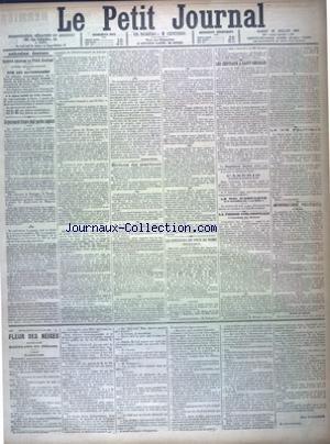 PETIT JOURNAL (LE) [No 11537] du 28/07/1894