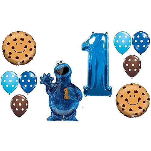 10PC Balloon Set New Cookie Monster Sesame Street Party 1st Birthday First Gift Decoration Gift Chocolate CHIP 12M 12m Sesame Street