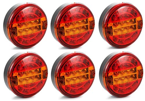 Inventive 10 Pcs Aohewei 12 V Led Amber Side Marker Light Indicator Position Lamp With Reflector For Trailer Truck Lorry Rv Caravan High Quality And Inexpensive Automobiles & Motorcycles Truck Parts