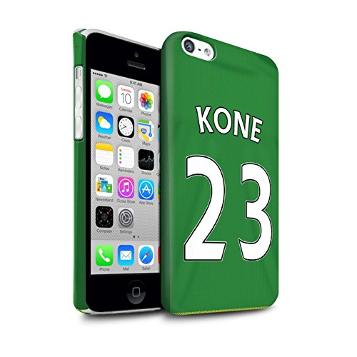 Offiziell Sunderland AFC Hülle / Matte Snap-On Case für Apple iPhone 5C / Pack 24pcs Muster / SAFC Trikot Away 15/16 Kollektion Kone
