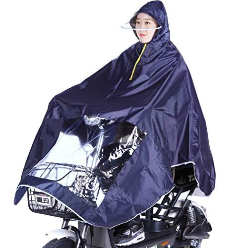 Regenponcho Regenjacke, Premium Regencape Fahrrad Regenponcho Festival Damen und Herren, Regenmantel Poncho Raincoat Fahrradponcho Damen Camping Wandern (Navy Blue) (Navy Blue Raincoat)