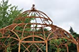 KUHEIGA STABILER Garten - Pavillon aus Metall Roheisen/Rost Ø 400cm