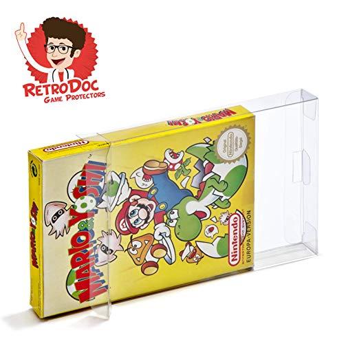 10 Klarsicht Schutzhüllen Nintendo Entertainment System [10 x 0,3MM NES OVP] Spiele Originalverpackungen Passgenau Glasklar (Spiele Nintendo Nes)
