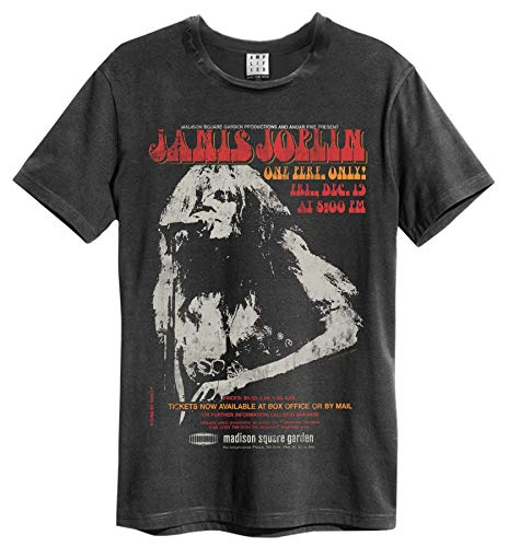 Amplified Janis Joplin Madison Square Gardens Mens T-Shirt (Large)