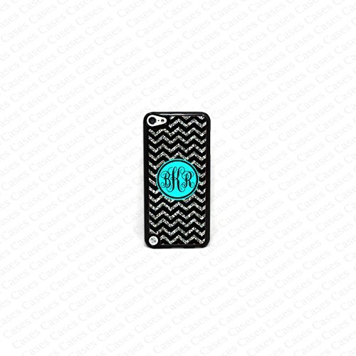 Krezy case Monogram iPod Touch 5case, Colorful chevron pattern Monogram iPod 5case, Monogram iPod 5case, iPod 5case (not a Real glitter)