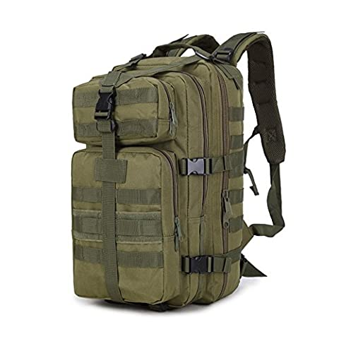 LOKEP 35L Durable&Water-resistant 3P Tactical Rucksack Hiking Backpack Camouflage Army Military Rucksack Camping Trekking Bag Mountaineering Hiking Daypack Multi-colors for Traveling Cycling Climbing