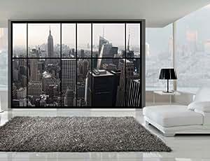 Awm10 superbe fen tres mur vue sur la fresque de new for Building sans fenetre new york