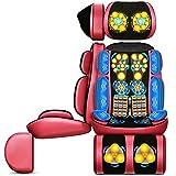 E-KIA Massage Stuhl Matte Massageliege Elektrisch,Multifunktionales KöRpermassagekissen, Nacken, Taille Und Bein,red