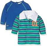 Twins Baby-Jungen Langarmshirt 2er Pack, Mehrfarbig (Mehrfarbig 3200), 62