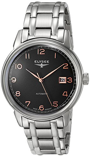 ELYSEE Made in Germany Vintage Master 80546S 40mm Automatic Silver Steel Bracelet & Case Synthetic Sapphire Men's Watch