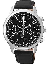 Seiko Herren-Armbanduhr Chronograph Quarz Leder SSB139P2