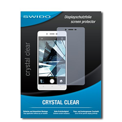 SWIDO Bildschirmschutz für Oppo Mirror 5 [4 Stück] Kristall-Klar, Hoher Härtegrad, Schutz vor Öl, Staub & Kratzer/Schutzfolie, Bildschirmschutzfolie, Panzerglas Folie