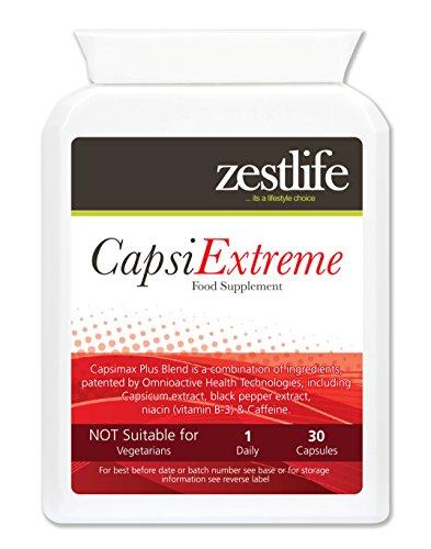 Zestlife Capsimax PLUS 30 capsules Fat Burner | Brûler plus de calories - avant - pendant - après l'exercice