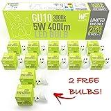 WhozzEco 5w GU10 LED Light Bulbs, 12 Pack, Warm White