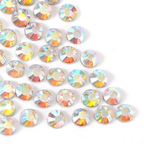 comprare on line ULTNICE Strass Termoadesivi Cristallo Gemme Rotonde Diamante Resina Strass per Decorazioni Unghie Matrimonio Tessuti 4 mm 1440 Pezzi prezzo