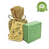 Barra di sapone di ortica naturale organico fatto a mano antico tradizionale vegano - Anti-forfora, per l'acne, peeling, capelli sani - Nessun prodotto chimico, puro sapone naturale!