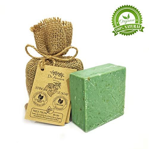 Orgánico natural vegano tradicional hecho a mano antiguo ortiga barra de jabón - Anticaspa, Para el Acné, Peeling, Cabello Saludable - Ningunos productos químicos, jabones puros naturales!
