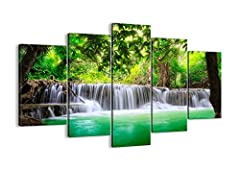 Idea Regalo - Canvas Print Picture - 5 Piece - Total size: Width 59,1(150cm), Height 39,4(100cm) Completely framed - Wall Art - Ready to Hang - multi panel - five 5 Part Panels - photo no. 2502 - EA150x100-2502 by multi panel LANDSCAPES - Arttor