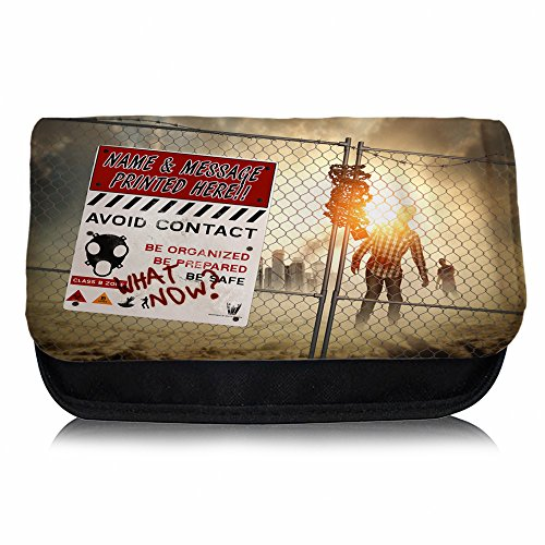 personalised-zombie-walking-dead-st395-pencil-case-small-wash-bag-glasses-medication-carrier