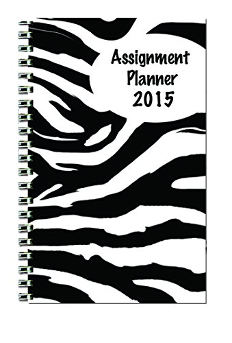 House of Doolittle Weekly Planner Student Assignment Buch 12 Monate Januar 2015 bis Dezember 2015, 5 x 8 Zoll, Zebra Design Cover Recycled Materialien Made in den USA (HOD274RTGCY65-15)
