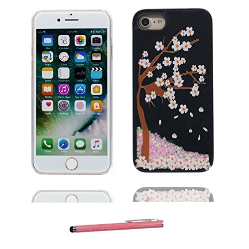 "Coque iPhone 6, [Bling Bling Glitter Fluide Liquide Sparkles Sables] iPhone 6s étui Cover (4.7 pouces), iPhone 6 Case (4.7""), anti- chocs & stylet- (Make-up Elegant) Noir 6"