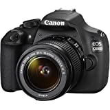 Canon EOS 1200D SLR-Digitalkamera (18 Megapixel APS-C CMOS-Sensor, 7,5 cm (3 Zoll) LCD-Display, Full HD) Kit inkl. 18-55mm IS Objektiv schwarz