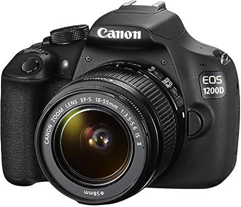 Canon EOS 1200D SLR-Digitalkamera (18 Megapixel APS-C CMOS-Sensor, 7,5 cm (3 Zoll) LCD-Display, Full HD) Kit inkl. 18-55mm IS Objektiv